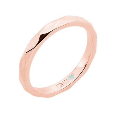 FROM MONDAY TO SUNDAY Bague, doré rose