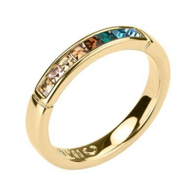 BREEZE Bague, doré, multicolore
